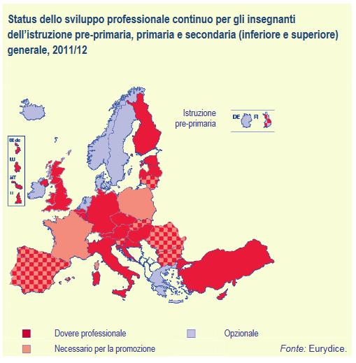 Status dello sviluppo professionale continuo per gli insegnanti dell'istruzione pre-primaria, primaria e secondaria (inferiore e superiore) generale, 2011-12 - figura_6_KDT