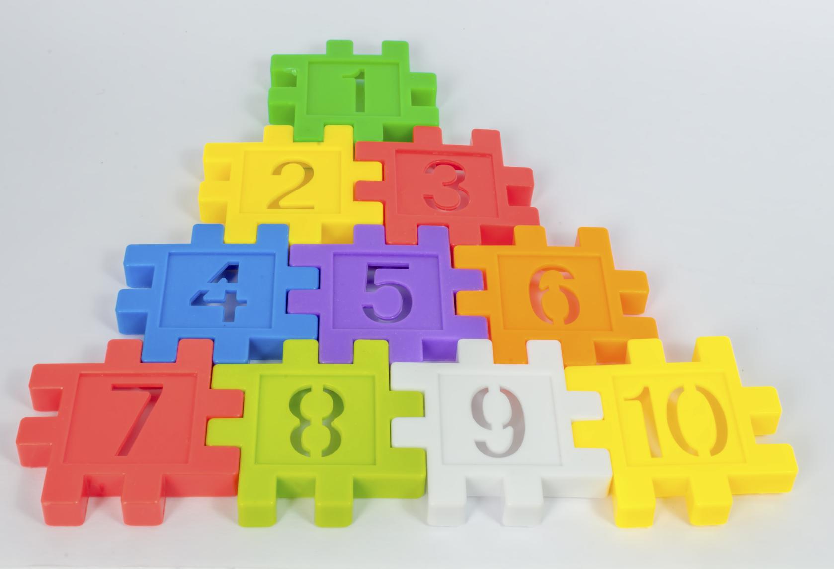 Puzzle colorato con numeri