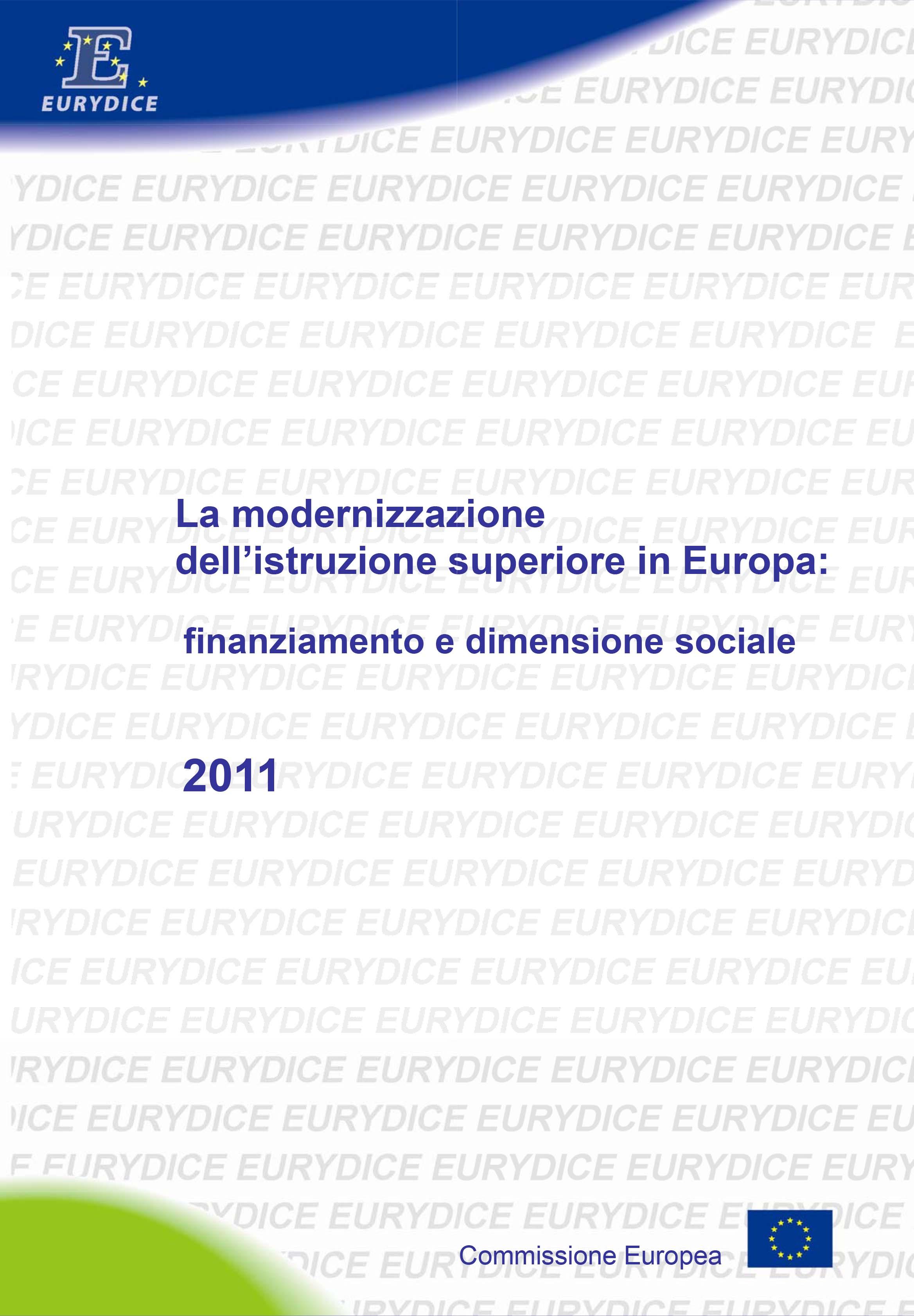 La modernizzazione dell'istruzione superiore in Europa: finanz